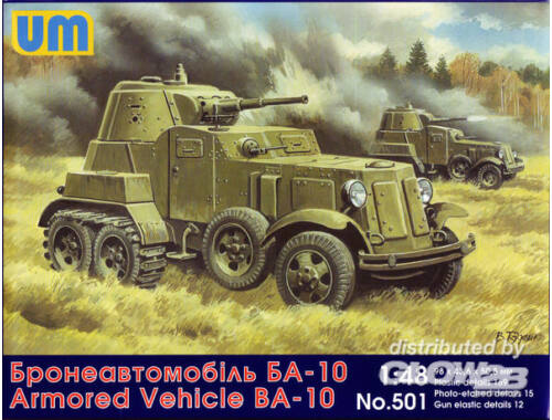 Unimodel BA-10 Soviet armored vehicle 1:48 (501)