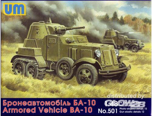 Unimodel BA-10 Soviet armored vehicle 1:48 (501)
