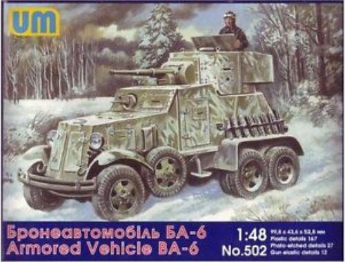 Unimodel BA-6 Soviet armored vehicle 1:48 (502)