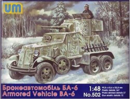 Unimodel BA-6 Soviet armored vehicle 1:48 (502)