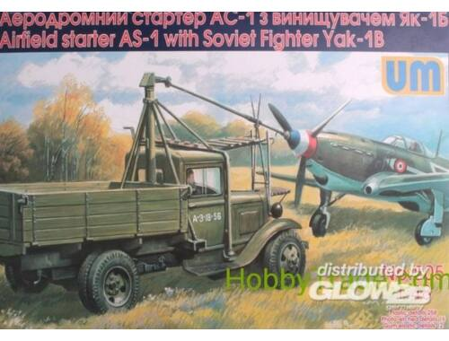 Unimodel Airfield starter AS-1with Soviet fighter 1:48 (505)
