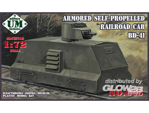 Unimodel Railroad car BD-41 1:72 (603)