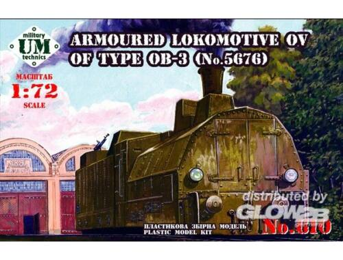 Unimodel Armored locomotive OV of type OB-3 1:72 (610)