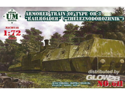 Unimodel Armored train No.2, 23ODBP of type OB-3 1:72 (611)