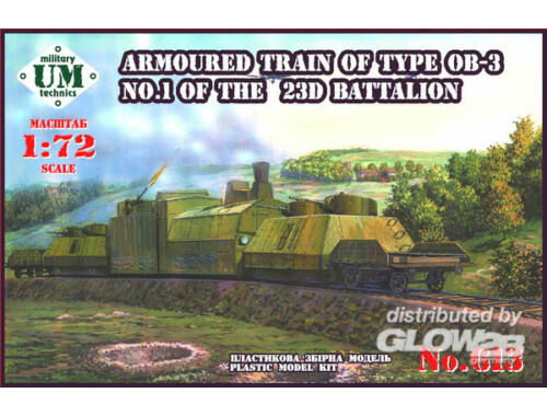 Unimodel Armored train of type OB-3 No.1 of 23D 1:72 (613)