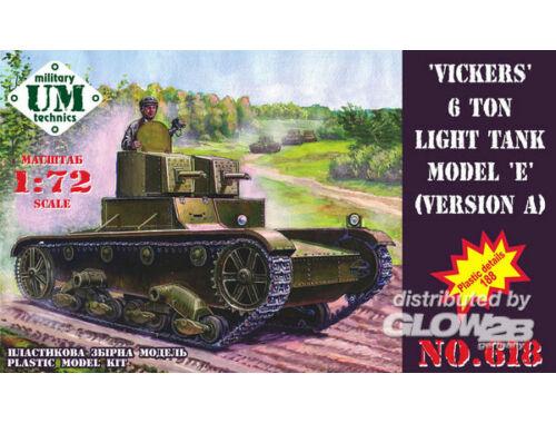 Unimodel Vickers 6 ton light tank model E, ver.A 1:72 (618)