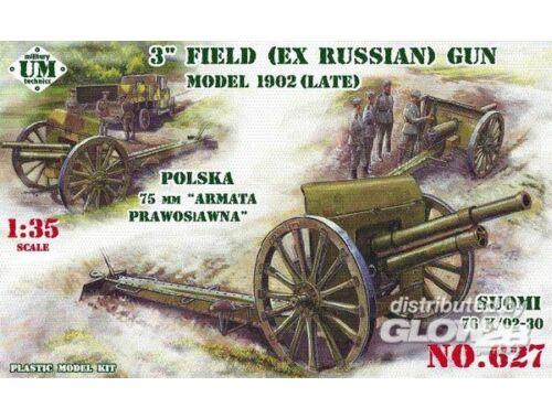 Unimodel 3inch (ex Russian) field gun, 1902(late) 1:35 (627)