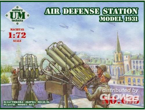 Unimodel Soviet air defense station, model 1931 1:72 (635)