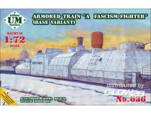 Unimodel Armored train A Fascism Fighter, base v. 1:72 (636)