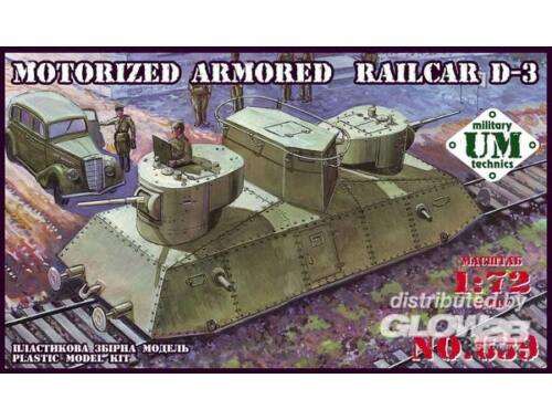 Unimodel Motorized armored railcar D-3 1:72 (639)