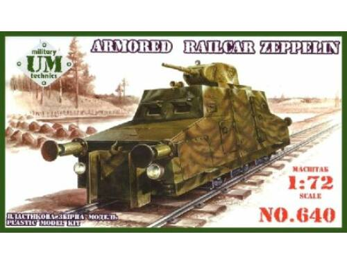 "Unimodel Armored railcar ""Zeppelin"" 1:72 (640)"