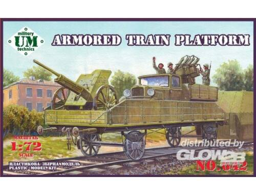 Unimodel Armored train platform 1:72 (642)