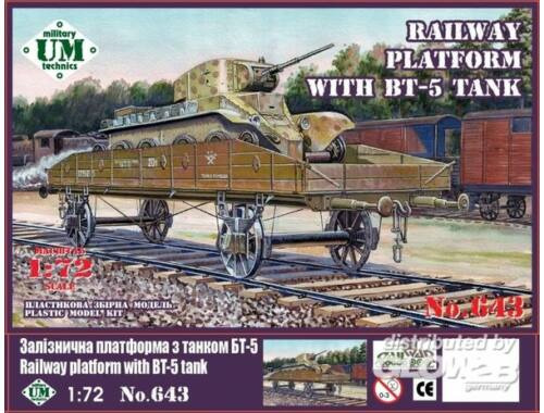 Unimodel Railway platform with BT-5 tank 1:72 (643)
