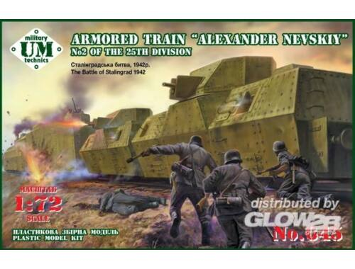 "Unimodel Armored train ""Alexander Nevskiy""No2 25t 1:72 (645)"