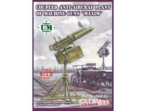 Unimodel Coupled anti-aircraft plant of maschine 1:72 (646)