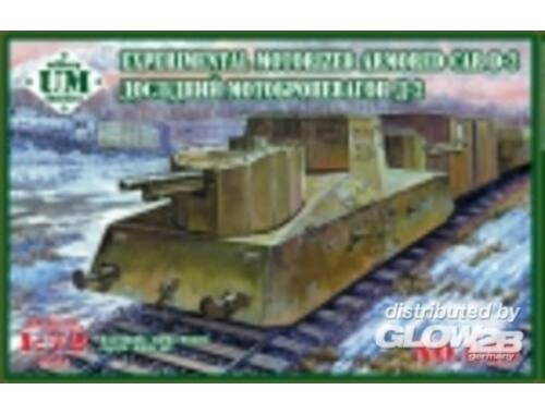 Unimodel Experimental motorized armored car D-2 1:72 (649)