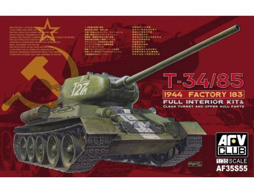 AFV Club T-34/85 1944 Factory 183(LIMITED)w.trans 1:35 (AF35S55)