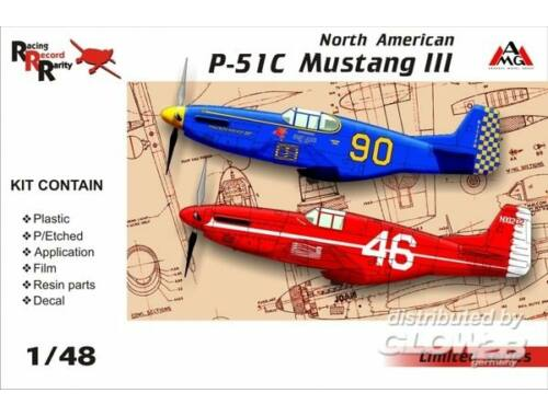 AMG North American P-51C Mustang III 1:48 (AMG48502)