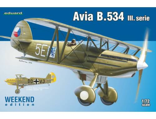 Eduard Avia B.534 III. serie WEEKEND edition 1:72 (7429)