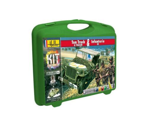 Heller Model Kit US 1/4 Ton Truck Trailer Infanterie US 1:72 (60997)