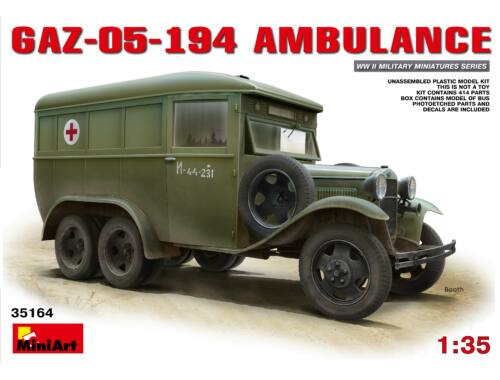 Miniart GAZ-05-194 Ambulance 1:35 (35164)