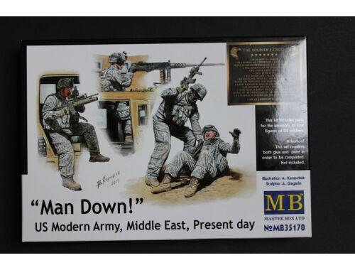 Master Box Man Down! U.S. Modern Army,Middle east 1:35 (35170)