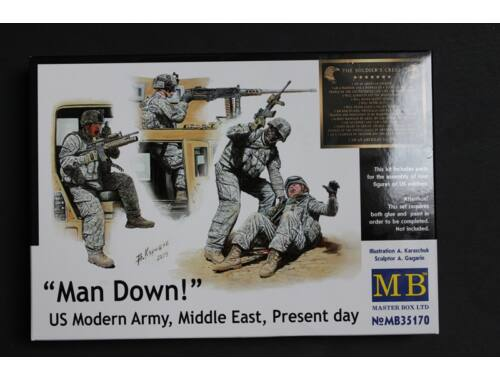 Master Box Man Down! U.S. Modern Army,Middle east 1:35 (35170)