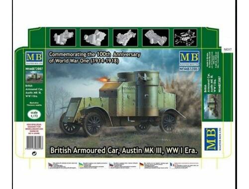Master Box Austin Mk.III British armored car1914-18 1:72 (72007)