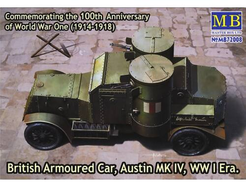 Master Box Austin Mk.IV British armored car,1914-18 1:72 (72008)