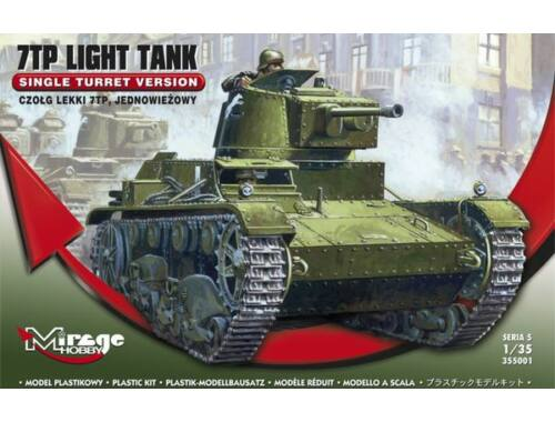 Mirage Hobby 7TP Light Tank Single Turret Version 1:35 (355001)