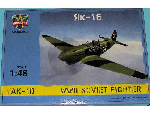 Modelsvit Yak-1B WWII Soviet fighter 1:48 (4801)