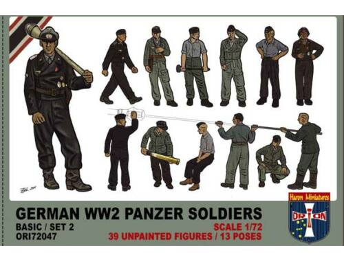 Orion WWII German panzer soldiers, set 2 1:72 (72047)