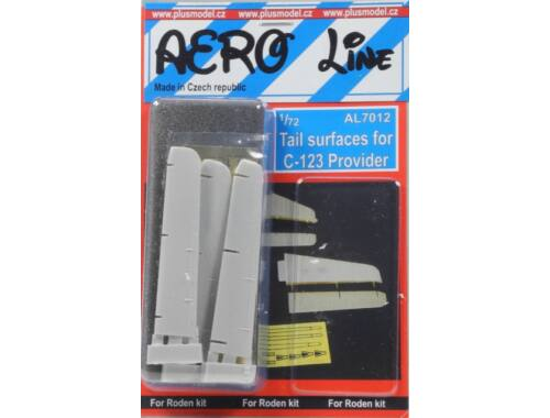 Plus Model Tail surfaces for C123 Provider 1:72 (AL7012)