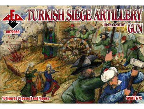 Red Box Turkish Siege Artillery GUN 1:72 (72069)