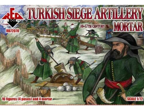Red Box Turkish Siege Artillery Mortar 1:72 (72070)