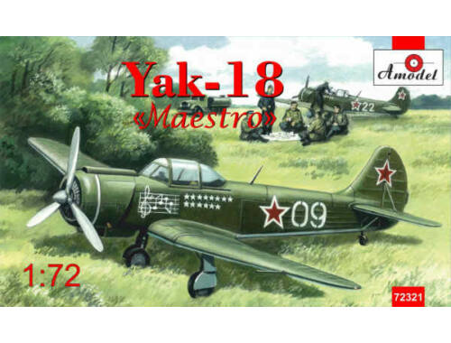 "Amodel Yakovlev Yak-18""Maestro""traning aircraft 1:72 (72321)"