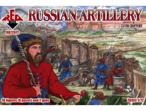 Red Box Russian Artillery, 17th century 1:72 (72072)