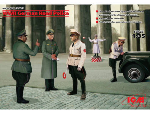 ICM WWII German Road Police (5 figures) 1:35 (35633)