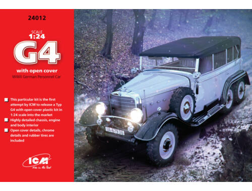 ICM Type G4 Soft Top WWII German Personnel Car 1:24 (24012)