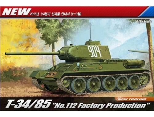 """Academy T-34/85 """"No.112 Factory Production"""" 1:35 (13290)"""