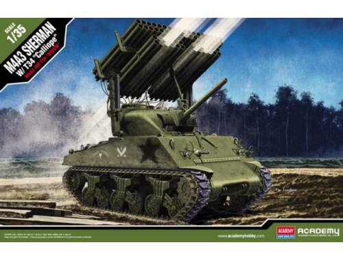 """Academy M4A3 Sherman with T34 """"Calliope"""" 1:35 (13294)"""