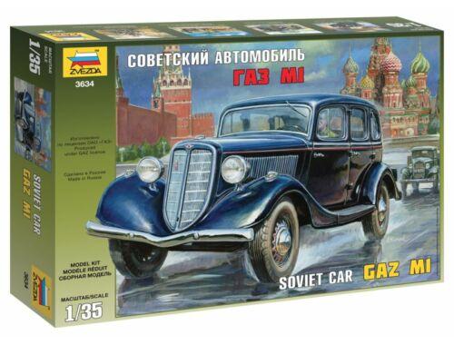 Zvezda GAZ M1 Soviet Staff Car 1:35 (3634)