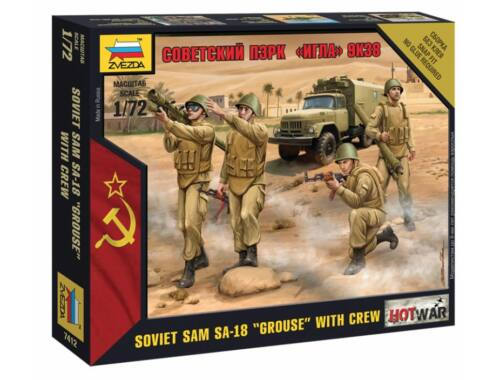 Zvezda Soviet Sam SA-18 Grouse with Crew 1:72 (7412)