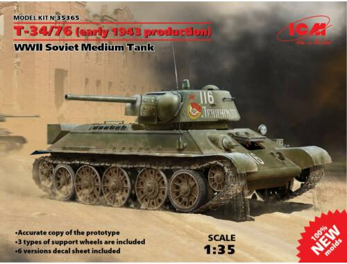 ICM T-34/76 early 1943 production 1:35 (35365)