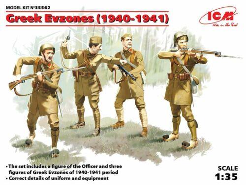 ICM Greek Evzones (1940-1941) (4 figures) 1:35 (35562)