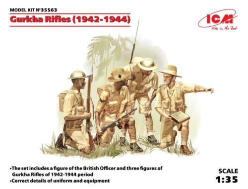 ICM Gurkha Rifles (1944) (4 figures) 1:35 (35563)