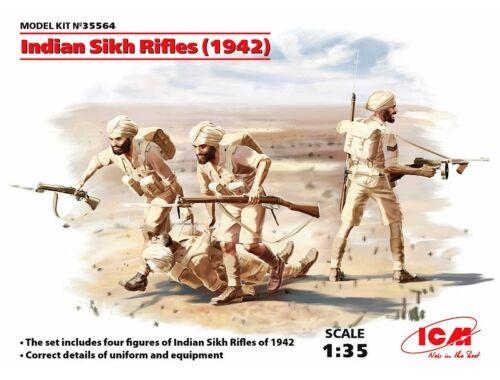 ICM Indian Sikh Rifles (1942) (4 figures) 1:35 (35564)