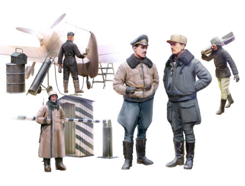 ICM German Luftwaffe Pilots and Ground Personnel 1:48 (48086)