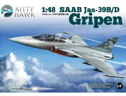 Kitty Hawk SAAB Jas-39B/D Gripen 1/48 (80118)