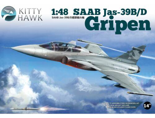 Kitty Hawk SAAB Jas-39B/D Gripen 1/48 (80118)